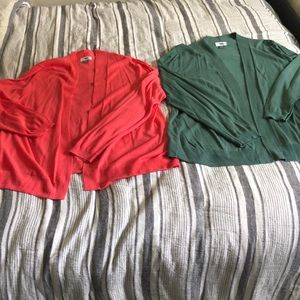 2 light weight sweaters